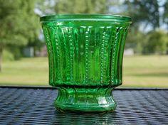 Emerald Green Glass Pedestal Vase by themodernlady on Etsy, $11.99