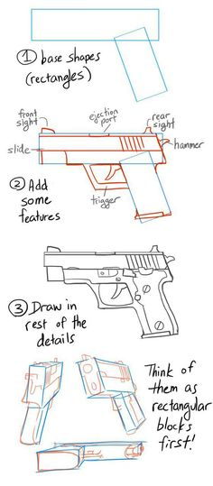 diy, gun, how to do, tutorial, drawing tutorial