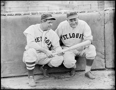Red Sox Jimmie Foxx and Browns Rogers Hornsby by Boston Public Library