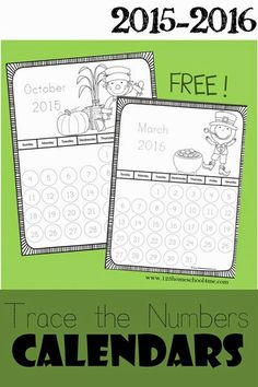 Trace the Numbers Calendar - This is such a fun free printable to teach toddler, preschool, kindergarten, and 1st graders to learn about months and days of the year!