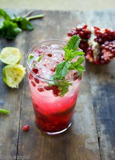 Pomegranate Mojito Cocktail