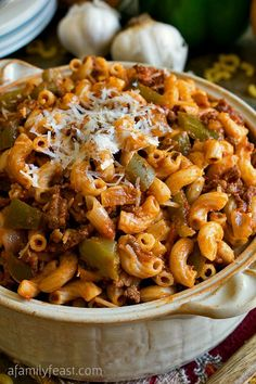 American Chop Suey - A classic New England dish, made just a little healthier - but still super delicious!