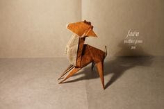 ORIGAMI FAWN by Mathieu Gueros Origami