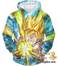 DBZ Dashing Light Super Saiyan Goku (GT) Zip Up Hoodie - Dragon Ball Z 3D Zip Up Hoodies And Clothing