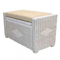 Rattan Wicker Chest Storage Ottoman Adam Color White Wash w/Cushion Rattan Ottoman, Rattan Furniture Set, Furniture Sets, Outdoor Furniture, Ottomans, Outdoor Decor, Cushion Fabric, Storage Chest, Wicker