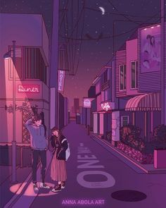 Image discovered by Sενεи. Find images and videos about art, couple and drawing on We Heart It - the app to get lost in what you love. Aesthetic Anime, Aesthetic Art, Couple Aesthetic, Bd Art, Pink Lila, Cute Couple Art, Anime Scenery, Anime Art Girl, Cartoon Art