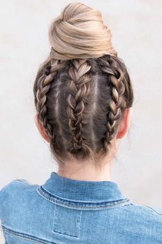 Perfect Hair Updos For Perfect You , Creative Ideas Of Updos ❤️ Hair updos are really popular now and there is no wonder why. It does not matter if you are a student or. Easy Bun Hairstyles, Wedding Hairstyles For Long Hair, Braids For Long Hair, Girl Hairstyles, Hair In A Bun, Braids And Curls, Updos With Braids, Modern Hairstyles, Everyday Hairstyles