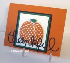 Punch Art Pumpkin by Sherri - Flowerbug's Inkspot