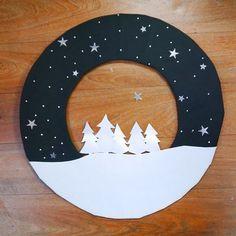 SO sooo cute: DIY fabrication d'une couronne de Noël !