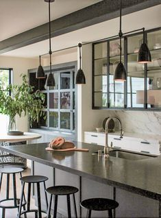 Mashup Monday 5: 22 Inspired Ways To Use Industrial Black Steel and Glass - Slave to DIY