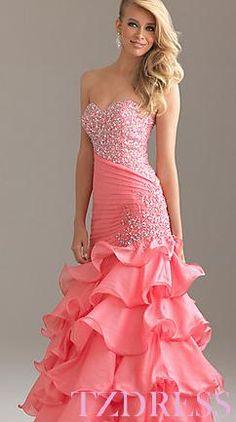 Custom Made Green Ball Gown Strapless Prom Dress,Sequin Evening ...