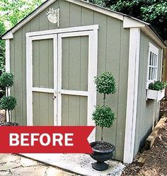 Shed DIY   Before And After Garden Shed Makeover Now You Can Build ANY Shed  In