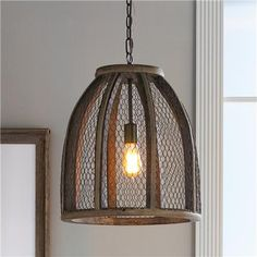 Large Chicken Wire Pendant for $250.00 -- This would look SO cool in the Library! Id wrap some twiggy vines down the chain.
