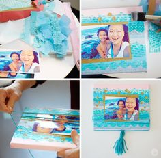 Need a fun decor idea for your child's room? This DIY art project is the perfect way to showcase your creativity with a personal touch. Follow the instructions from Think.Make.Share to make your own DIY photo wall art. It's a great idea for dorm room decor too!