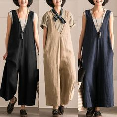 Plus Size Women Jumpsuit Fashion Sleeveless V Neck Oversized Overalls Playsuit Casual Ladies Loose Jumpsuits Body Romper Jumpsuit Casual, Cotton Jumpsuit, Bodycon Jumpsuit, Pant Jumpsuit, Overalls Women, Trousers Women, Bib Overalls, Harem Trousers, Dungarees