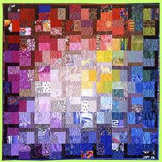 """Melody Crust, Quiltmaker created """"Saffron"""".  I can't wait to learn from this artist at her workshop this weekend!"""