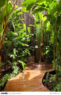 Arka bahçede böyle bir duş