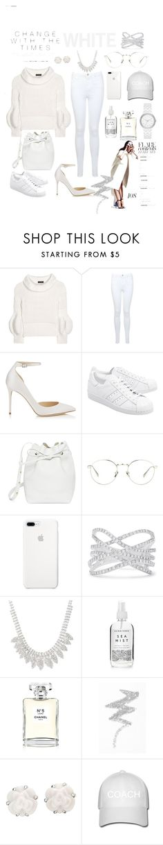 """WHITE"" by luthfiyyah-rachmawati on Polyvore featuring Burberry, Miss Selfridge, Jimmy Choo, adidas Originals, Mansur Gavriel, Linda Farrow, Effy Jewelry, Herbivore, Chanel and NYX"