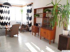 Olohuone - Sisustuskuvia jäseneltä MiiMii - StyleRoom Teak, Shelving, Divider, Mid Century, Loft, Interior, Furniture, Decoration, Home Decor