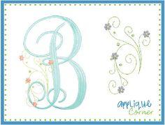 Flower Spray Embroidery Design