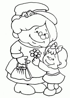 . Doodle Coloring, Colouring Pages, Coloring Pages For Kids, Coloring Sheets, Adult Coloring, Embroidery Patterns, Quilt Patterns, Grandparents Day Crafts, Human Drawing