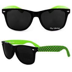 3b812868ef Black  amp  Pink Checker Two Tone Wayfarer Sunglasses Dark Sunglasses  Accessories