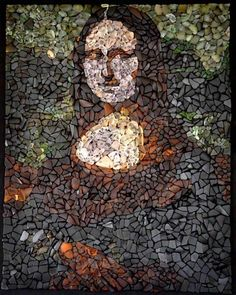 I am an artist from the acadian coast in Canada. I make portrait with genuine seaglass. I recycle pieces of old broken bottles, glass, dish that I find on the beach into portrait or design on a black canvas. Each of them are unique. You can see more of my work on my Facebook Page … Read More » #Glass, #Mosaic, #Portrait, #Recycled, #RecycledArt, #Reused #RecycledArt, #RecycledGlass