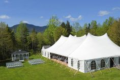 Outdoor wedding and reception