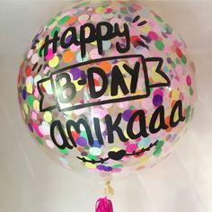 Happy bday ❤️ #díseloconglobos . . . . #confettiballoons #globosgigantes #globos #dots #estoyinglob