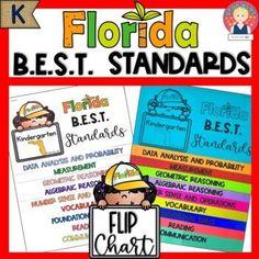 Florida B.E.S.T. Standards Flip Chart for Grade K by Star Kids | TpT Reading Charts, Kindergarten Teachers, Flipping, Vocabulary, Back To School, Star Kids, Florida, Marzano, Teaching