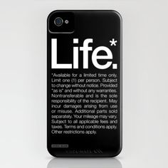 Life.* Available for a limited time only. iPhone Case by WORDS BRAND™ | Society6