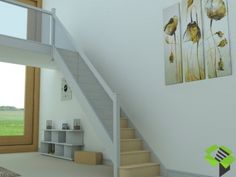 White and Glass Staircase