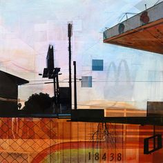Was Paradise by artist Jon Measures at Whawi.com Collage Art, Collages, Industrial Paintings, Chiaroscuro, Mixed Media Painting, Mix Media, Photomontage, Cityscapes, Urban Decay