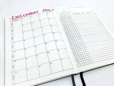 Monthly Spread: December 2016