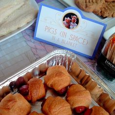 """""""Pigs (in Space) in a Blanket"""" for Chloe's Muppet-themed birthday party"""