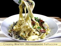 Love it?  Pin it!  (Just click the top right of the photo) Follow Spend With Pennies on Pinterest for more great recipes! This is a very simple and delicious dish with two of my very favorite flavors.. BACON & MUSHROOMS!  There is nothing I don't...