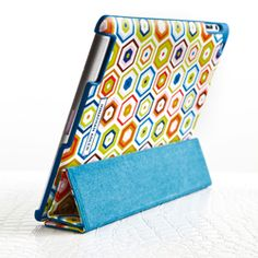 Jonathan Adler iPad Case Stand - love how colorful it is.