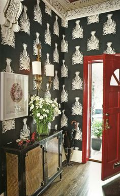 Great radiator cover via Chinoiserie Chic, uncredited