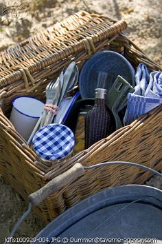 Basket of goodies. Picnic Baskets, Wicker Baskets, Vintage Picnic, Jam Jar, Picnic Time, Al Fresco Dining, Significant Other, Life Is An Adventure, Cabins In The Woods