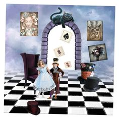 """""""Alice in wonderland"""" by heartlesskiller on Polyvore featuring art"""