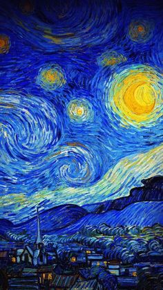 The latest iPhone11, iPhone11 Pro, iPhone 11 Pro Max mobile phone HD wallpapers free download, van gogh, starry night, night, paint, painting - Free Wallpaper | Download Free Wallpapers
