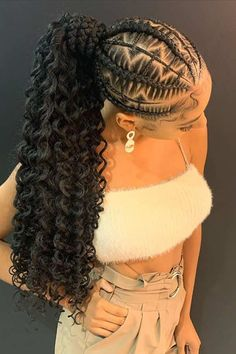 88 Best Black Braided Hairstyles to Copy in 2020 Finding a new braided hairstyle is not easy. We are here to help you with your hair dilemma and have found 88 of the best black braided hairstyles for Braids Hairstyles Pictures, Box Braids Hairstyles For Black Women, Braided Ponytail Hairstyles, Black Girl Braids, Ponytail Styles, Baddie Hairstyles, African Braids Hairstyles, Braids For Black Hair, Girls Braids