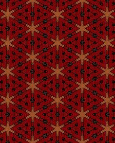 Red Lines Pattern by bubbliciousart