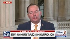 """On February 9th, 2021, the first day of the second Impeachment trial of Donald Trump, Republican Senator, Mike Lee of Utah, gave an interview on a show called """"America's Newsroom"""" at Fox News about his thoughts on the trial. Logic And Critical Thinking, Mike Lee, Calling America, Everyone Makes Mistakes, Republican Senators, Trials, Donald Trump, Real Life"""
