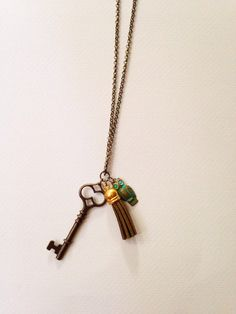 Owl Skeleton Key Charm Necklace Glass Mysterious Haunted Magical by MissInthia on Etsy https://www.etsy.com/listing/215988517/owl-skeleton-key-charm-necklace-glass