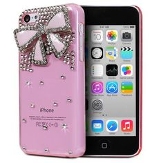 Fosmon GEM Series 3D Bling Design Case for Apple iPhone 5C (Pink Case / Pink Bow):Amazon:Cell Phones & Accessories