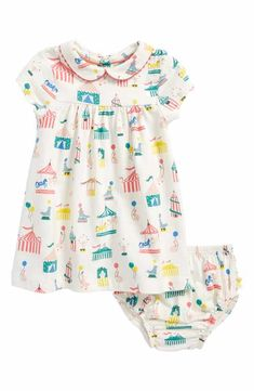 Mini Boden Print Jersey Dress (Baby Girls & Toddler Girls)