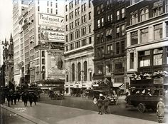 Fifth Avenue and 42nd Street, New York City, 1920