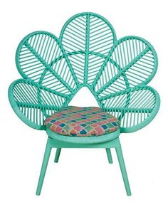 Aqua peacock chair!