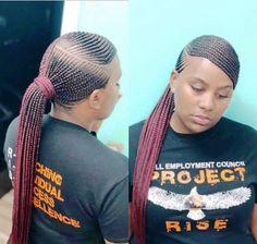 Box Braids Hairstyles, Braided Ponytail Hairstyles, Braids Wig, Black Hairstyles, Teenage Hairstyles, Feed In Braids Ponytail, Ponytail Updo, Tree Braids, Braided Hairstyles For Black Women